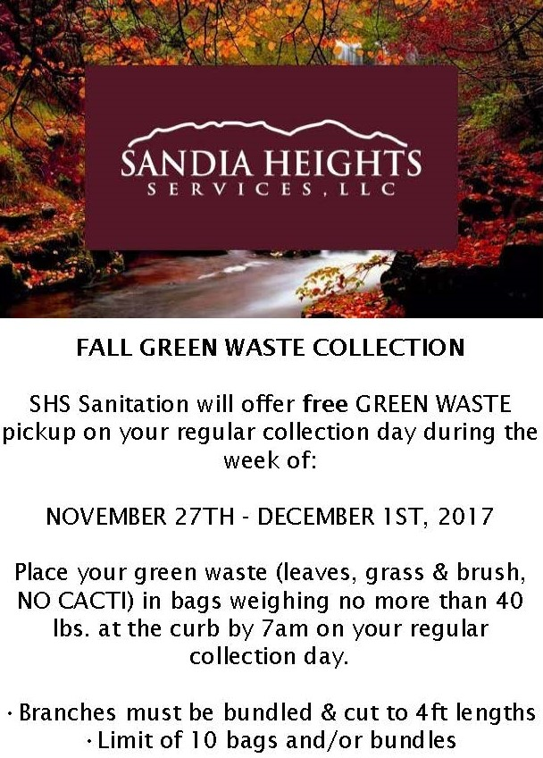 Fall Green Waste Collection 2017